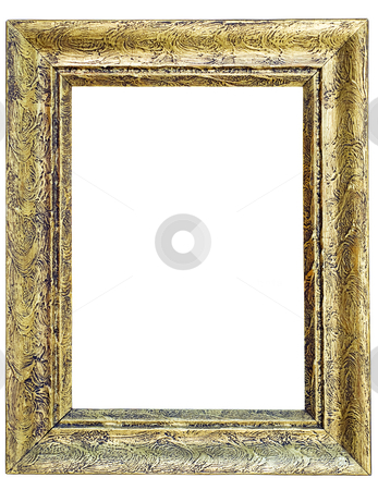 Rectangle frame stock photo, An old rectangle frame for picture isolated from background. by Sinisa Botas