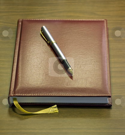 Diary stock photo, Just a diary book under soft light. by Sinisa Botas