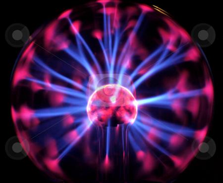 Plasma light stock photo,