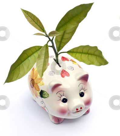 Forests providence stock photo, Piggy money-box like forest savings metaphor by Sinisa Botas