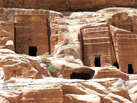 Necropolis in Petra stock photo, Necropolis, Petra, Jordan, Middle east by Roman Vintonyak