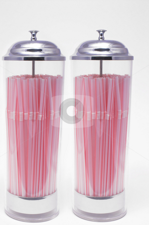 Drinking Straw Dispenser stock photo, Two drinking straw dispensers loaded with drinking straws. by Robert Byron