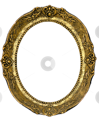 Elipsed baroque frame stock photo, Old picture frame isolated from background. by Sinisa Botas