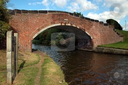 Humpback bridge  stock photo, Humpback bridge at Daresbury, Cheshire Bridgewater Canal by Ray Roscoe