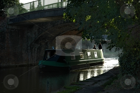 Narrowboat - Lymm stock photo, Photo taken under brisge at Lymm in Cheshire UK. by Ray Roscoe