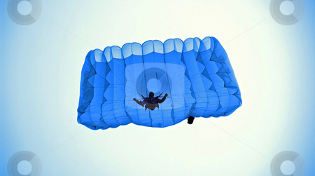 Sky walker stock photo, Parachuter few moment from ground. by Sinisa Botas