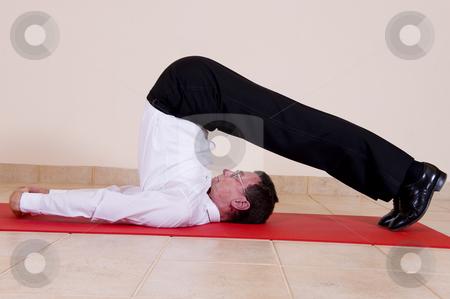 yoga plow pose stock photo