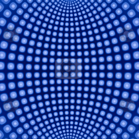 Dynamic blue circles fractal pattern background. stock photo, Dynamic blue circles fractal pattern background. by Stephen Rees