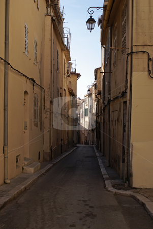 Marseilles stock photo, Typical distric of