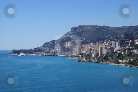 Monaco coastline stock photo, Fiscal paradise of Monaco in French Riviera by Serge VILLA