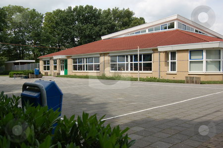 Primary School Building stock photo, Typical public school building, pictured in The Netherlands. by Karen Koomans