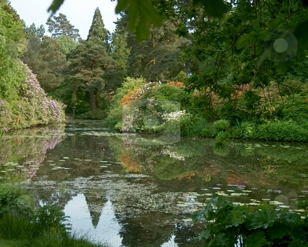 Chinese Gardens stock photo, Chinese gardens at Tatton Park Cheshire England by Ray Roscoe