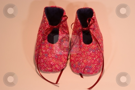 It's a girl stock photo, Hand made baby shoes for a girl. by Mariusz Jurgielewicz