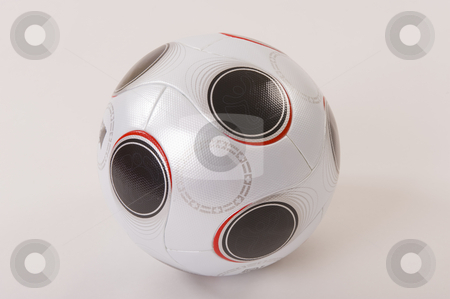 Soccer ball stock photo, An official UEFA EURO2008 match soccer ball in white and black, on white background - not isolated.   soccer, ball, euro2008, UEFA, euro, pass, official, white, design, round, sport, competition, world, championship, club, league, play, compete, europe, sport, football, pattern, team, cup, leather, equipment, goal, champion, match, test, shiny by Nicolaas Traut