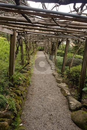 Hakone Gardens stock photo, Hakone Gardens is a traditional Japanese garden in Saratoga, California, USA. It claims to be the oldest Japanese-style residential garden in the Western Hemisphere. by Mariusz Jurgielewicz