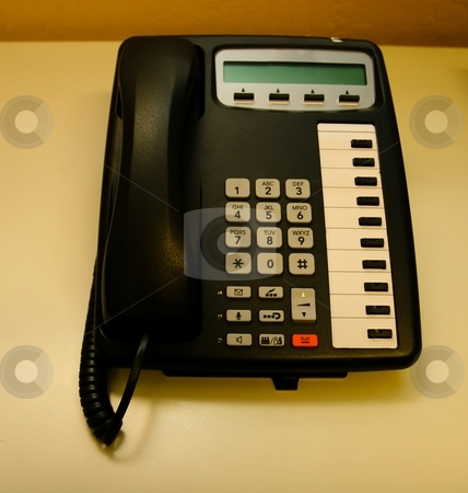 Phone stock photo, Modern multiline office phone by Mariusz Jurgielewicz