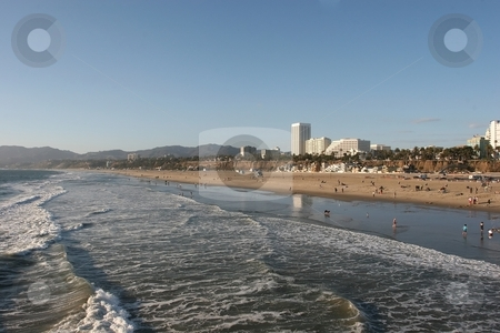 Santa Monica Coast stock photo, Santa Monica is a coastal city in western Los Angeles County, California, USA. Situated on Santa Monica Bay of the Pacific Ocean by Mariusz Jurgielewicz