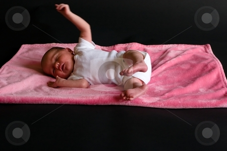 Newborn stock photo, 7 days old newborn by Mariusz Jurgielewicz
