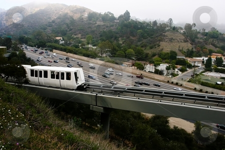 Interstate 405 stock photo, Interstate 405 is one of the principal north-south interstate highways in Southern California, and the major bypass of Interstate 5 running through the Greater Los Angeles Area. by Mariusz Jurgielewicz
