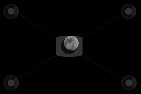 Moon stock photo, The Moon (Latin: Luna) is Earth's only natural satellite and the fifth largest natural satellite in the Solar System. by Mariusz Jurgielewicz