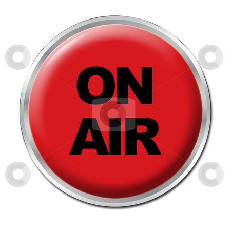 On Air Button stock photo, A round red button with the warning ON AIR by Petr Koudelka