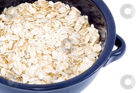 Bowl of Oatmeal stock photo, A bowl of plain oatmeal - healthy diet by Petr Koudelka