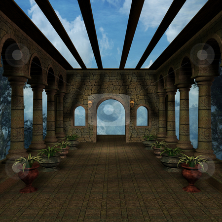 Mystic Place stock photo, 3D Render of an Mystic Place by Andreas Meyer