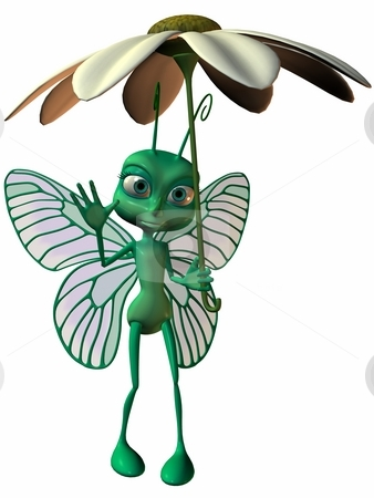 Toon Butterfly stock photo, 3D Render of an Toon Butterfly by Andreas Meyer