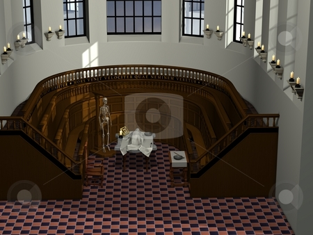 Anatomy Theatre stock photo, 3D Render of an Anatomy Theatre by Andreas Meyer