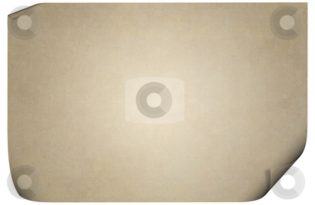 Old textured paper stock photo, Aged, grunge and highly textured paper, with curled up corners. by Karen Koomans