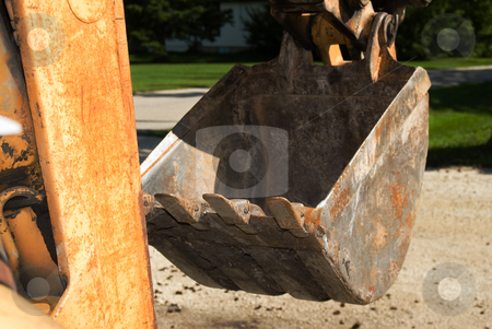 Backhoe Bucket stock photo, Closeup view of a metal bucket from a backhoe by Richard Nelson