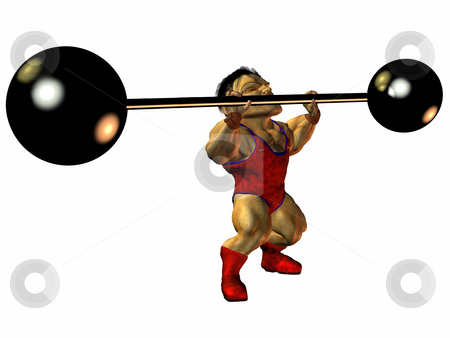 Arni the Muscleman stock photo, 3D Render of an Toon Figure by Andreas Meyer