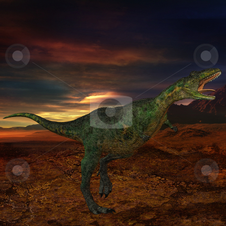Aucasaurus-3D Dinosaur stock photo, 3D Render of an Aucasaurus-3D Dinosaur by Andreas Meyer