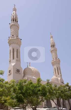Grand Mosque Dubai stock photo, The Grand Mosque in Dubai. by Nicolaas Traut
