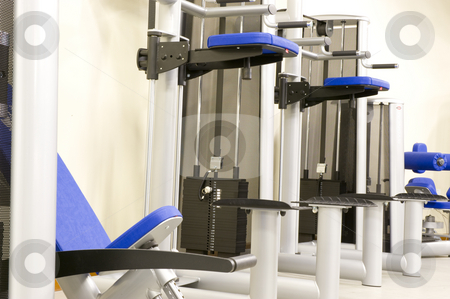 Gym equipment stock photo, Gym or gymnasium equipment in a world-class facility suitable for athletes training for international events. by Nicolaas Traut