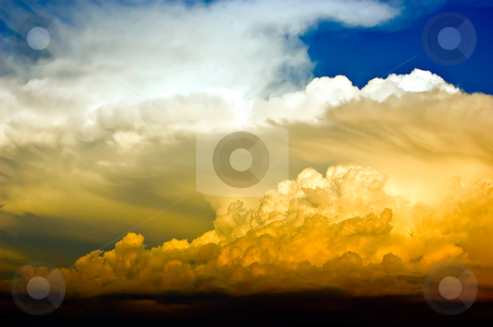 Dramatic and stormy sky stock photo, Dramatic and stormy sky full of colors by Khoj Badami