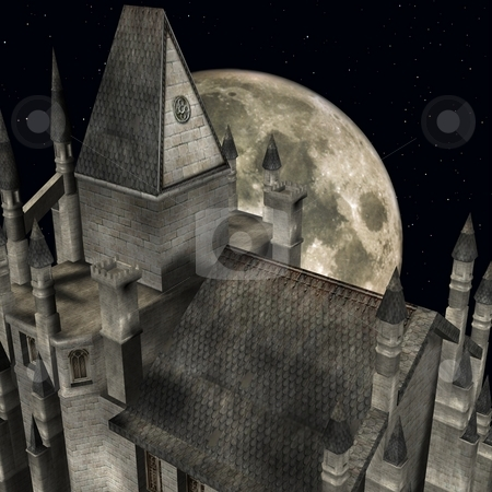 Medieval Castle stock photo, 3D Render of an Medieval Castle by Andreas Meyer