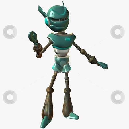 Toon Bot stock photo, 3D Render of an Toon Bot by Andreas Meyer