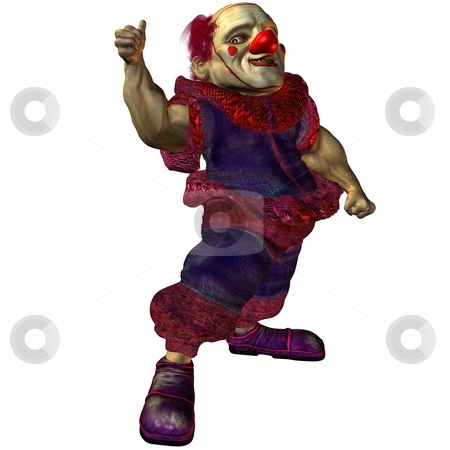 Bruno the bad Clown stock photo, 3D Render of an Toon Figure by Andreas Meyer