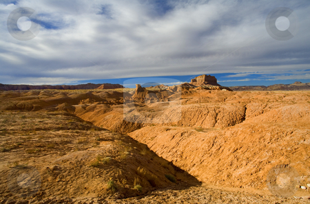 Desert Folds stock photo, The folds and undulations of Gobblin Valley State PArk in Central Utah. by Mike Dawson