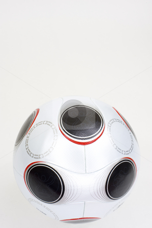 Soccer Ball stock photo, UEFA championship soccerball on white, not isolated.  Copyspace on top. by Nicolaas Traut