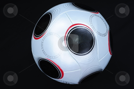 Soccer Ball stock photo, UEFA Championship soccerball on black background. by Nicolaas Traut