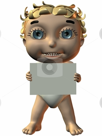Cherub stock photo, 3D Render of an Cherub by Andreas Meyer