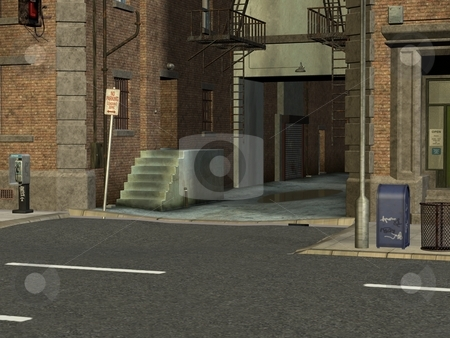 City Streets stock photo, 3D Render of City Streets by Andreas Meyer