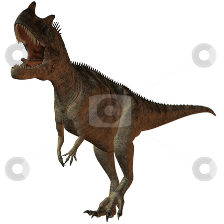 Ceratosaurus nasicornis-3D Dinosaur stock photo, 3D Render of an Ceratosaurus nasicornis-3D Dinosaur by Andreas Meyer