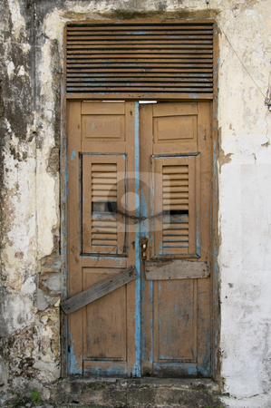 Old Doors stock photo, Old Doors from an old house, no entrance by Claudia Van Dijk