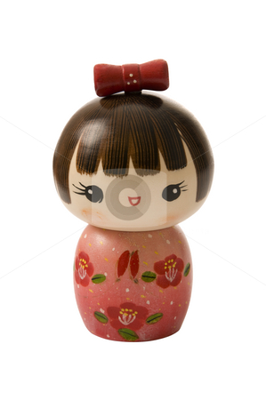 Kokeshi doll stock photo, Handmade, wooden, kokeshi doll made in japan by Claudia Van Dijk