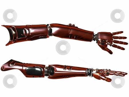Cyber Arm stock photo, 3D Render of an Cyber Arm by Andreas Meyer