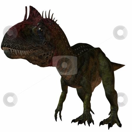 Cryolophosaurus-3D Dinosaur stock photo, 3D Render of an Cryolophosaurus-3D Dinosaur by Andreas Meyer