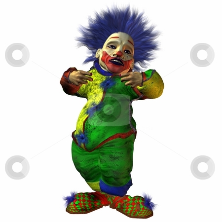 Eddy the Clown stock photo, 3D Render of an Clown by Andreas Meyer